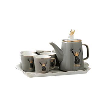 北欧式陶瓷茶具水杯家用套装客厅杯子水具耐热茶壶茶杯冷水壶套装