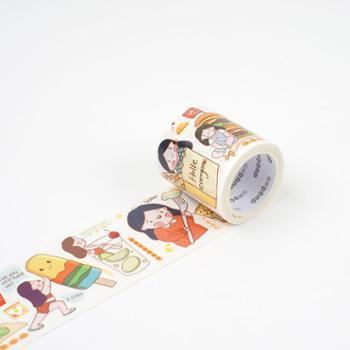多加原创手帐和纸胶带 人物网红款可爱少女心整卷创意手工diy装饰贴手账素材工具手杖贴纸彩色卡通胶带宽胶布