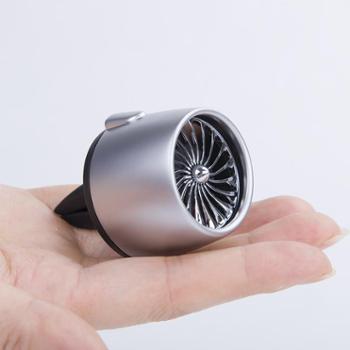 艾可斯空军二号车载香水汽车空调出风口风扇三一号香薰车内香水旋转装饰