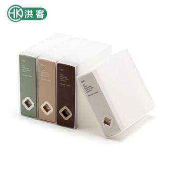 洪客 时尚创意大容量CD盒塑料车载收纳dvd包游戏光盘ps4收纳盒