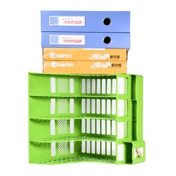 多功能文件架文件夹收纳盒多层置物篮书架学生用文具桌面书立