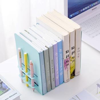 4片简易桌上夹书器学生用桌面课桌收纳创意挡板大号隔书立架摆书架