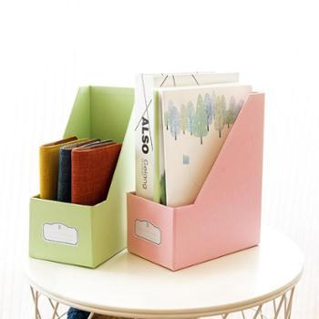 kinbor书立收纳盒硬卡书套彩色书立手帐整理箱盒子