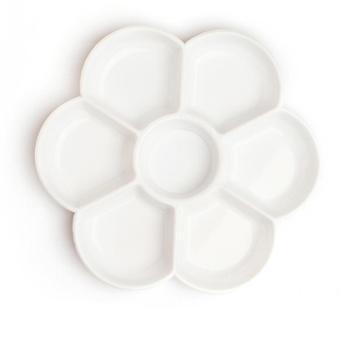 博格利诺调色盘仿陶瓷梅花7格初学者美术学生专用