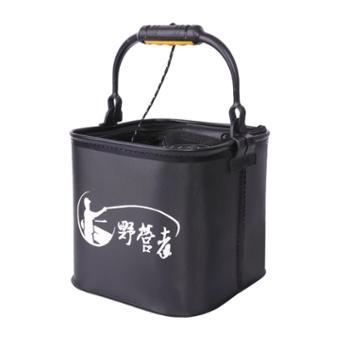 钓鱼打水桶活鱼桶折叠水桶带绳网小加厚提装渔具鱼箱桶鱼桶钓鱼桶
