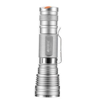 康铭KM-L232铝合金强光远射拉伸调焦LED手电筒迷你