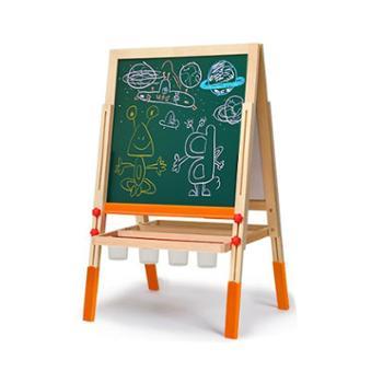七巧板实木儿童画板画架小黑板升降支架式家用磁性画画套装写字板