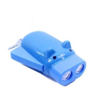小猪按压发电手电筒可爱便携手摇式自发电环保节能