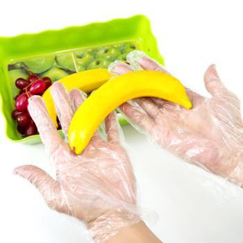 Sunny Smile/阳光微笑 透明薄膜塑料防护手套食品级一次性手套
