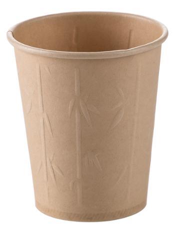 子竹林 家用立体压纹原色纸杯一次性加厚防烫环保杯