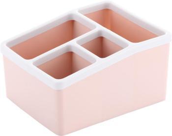 豪丰桌面收纳盒多分格办公室收纳盒家庭遥控器收纳盒子塑料盒子