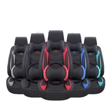 汽车坐垫全包围皮座套四季通用亚麻布艺专用座垫座椅套