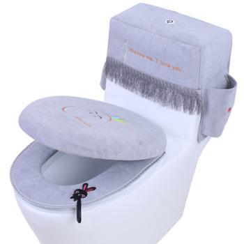 宁惠马桶坐垫通用防尘收纳马桶盖罩套家用防水