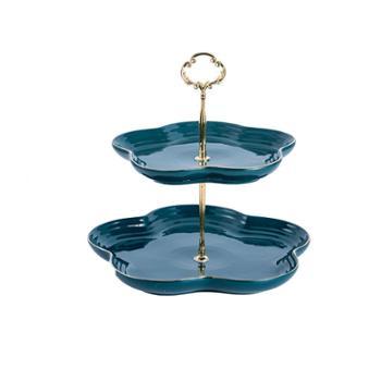 维光 欧式水果盘家用轻奢金边陶瓷餐具