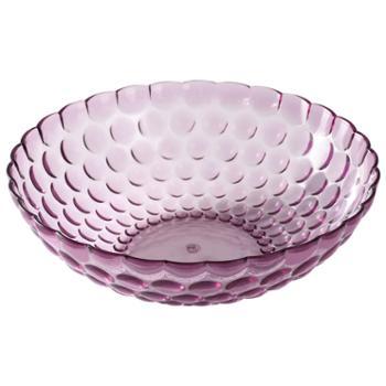 千良 塑料水果盘透明简约创意糖果盘家用