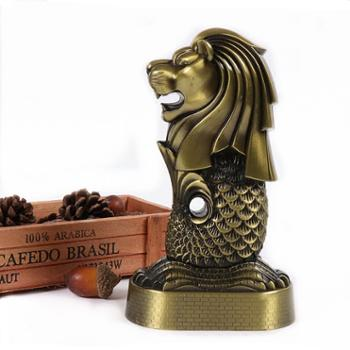 礼汉新加坡鱼尾狮模型工艺品摆件