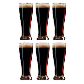 乐美雅 无铅玻璃杯啤酒杯 6只套装