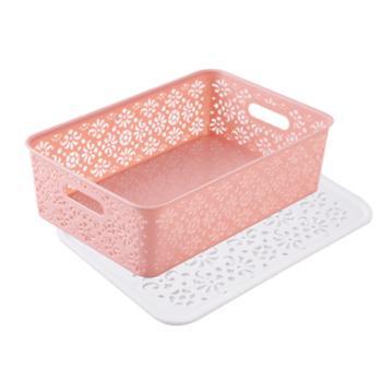 小呆鼠塑料收纳盒杂物收纳篮置物篮