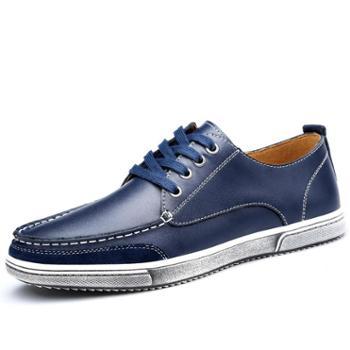 英伦风潮男士休闲皮鞋个性复古板鞋软牛皮透气男皮鞋子 9935