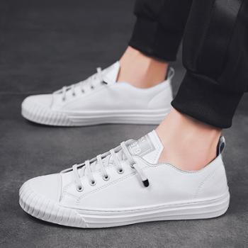 新款小白鞋男士休闲鞋时尚透气运动低帮鞋潮流男板鞋 5803