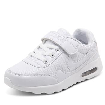 儿童白色运动休闲鞋男童小白鞋小学生运动会专用鞋旅游波鞋女童白鞋 ywa78