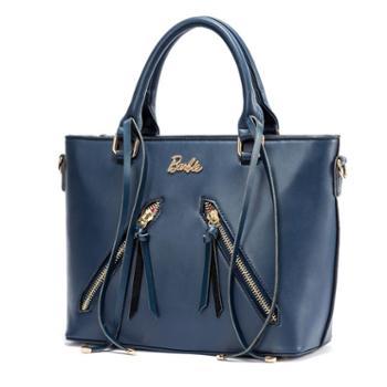芭比Barbie斜挎包包手提包女包双拉链流苏OL(中包)BBFB619