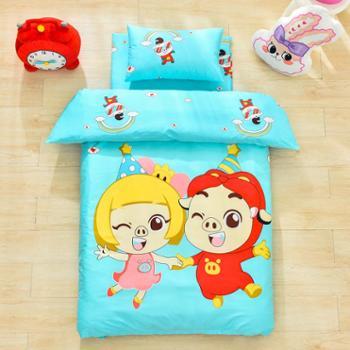 安琪尔家纺幼儿园宝宝午睡纯棉空调夏凉被子三件套入园卡通套件