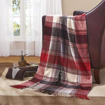 罗莱家纺 时尚英伦多功能披肩毯