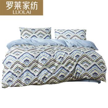 罗莱家纺床上用品全棉斜纹床单被套单双人云海瑶全棉四件套