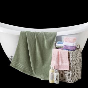 罗莱家纺 进口纯棉加厚浴巾男女通用(绿色)