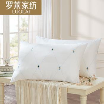 罗莱家纺依莎抗菌对枕2只装枕芯