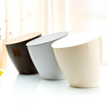 稻草屋 时尚创意桌面垃圾桶 小号厨房台面收纳桶桌上迷你小垃圾筒一个