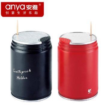 安雅易拉罐自动牙签盒 可乐牙签座 时尚创意高档牙签筒一个