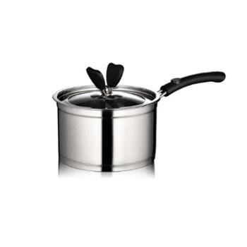 沃米 奶锅不锈钢不粘锅 复底加厚小汤锅 宝宝热奶锅 煮面锅电磁炉