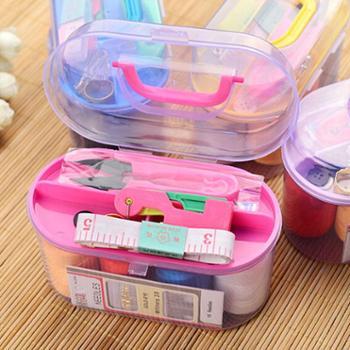简单爱家用针线盒套装针线缝纫缝补针线包大号针线盒特价颜色随机