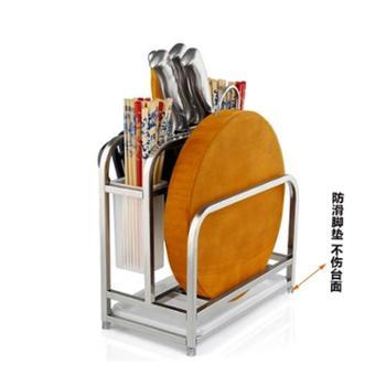 乘龙架 不锈钢刀架厨房用品置物架多功能刀座刀具架菜刀架菜板架子砧板架