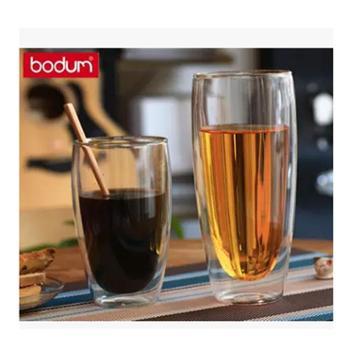 bodum 双层玻璃杯隔热透明茶杯创意水杯耐热咖啡杯果汁饮料杯子