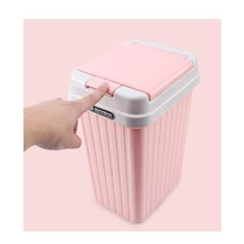 长方形带盖垃圾桶家用卫生间有盖创意厨房厕所客厅卧室可爱大号