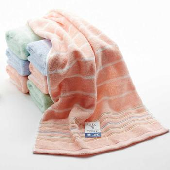 金号纯棉毛巾一条成人加厚柔软吸水面巾素雅条纹割绒纱布情侣毛巾