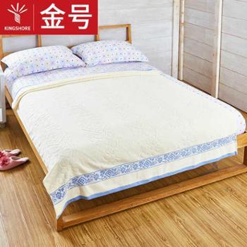 金号纯棉单人毛巾被一条夏凉被柔软透气亲肤单人空调被盖毯