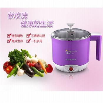 康佳 多用锅紫玫瑰电热锅烧水煮面器 迷你火锅 1.5L 学生电热杯