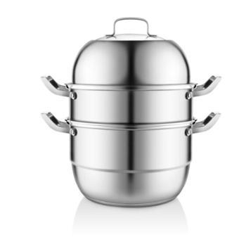 赫曼德(NOLTE)厨房家用不锈钢三层蒸锅蒸笼HMD-9102