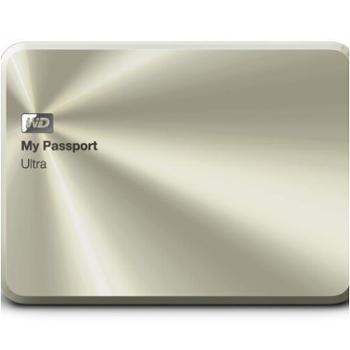 西部数据(WD)My Passport Ultra周年纪念版USB3.0 2TB 超便携移动硬盘 (金色)WDBEZW0020BCG