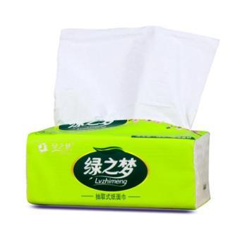 绿之梦抽纸面巾纸3层402张/包×12