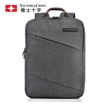 维士十字双肩包男15.6寸商务手提电脑包简约男士背包中学生书包VC3008-LE6804