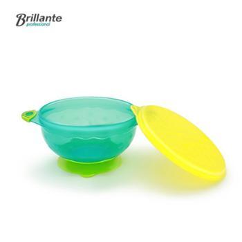 贝立安儿童多彩吸盘碗宝宝防滑440ML带盖训练碗BYW13