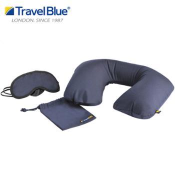 TravelBlue/蓝旅u形枕头护颈枕脖子飞机枕眼罩套装223