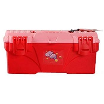 优美家13寸儿童收纳箱整理箱学习文具课本玩具收纳盒TO-D13