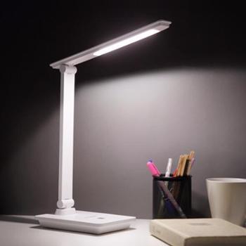 松下/Panasonic台灯LED充电学习节能床头书房宿舍学生小台灯HH-LT0628白色/HH-LT0629黑色触摸开关