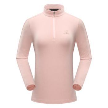 布来亚克女士半拉抓绒衣户外登山运动保暖衣FZW314